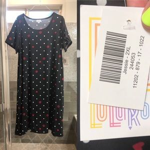 NWT Lularoe Jessie Dress: Black & White, size 2XL